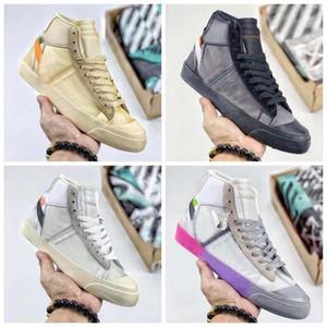 Nike Air Blazer mid Off White Blazer Negro Naranja 2019 de Alta Calidad Zapatillas de correr MID Grim Reepers Raya Cavans THE TEN PRESTRO zapatillas de baloncesto
