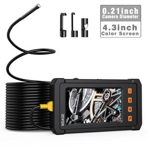 5 м кабель промышленный эндоскоп, бороскоп камера 1080P HD 4,3-дюймовый ЖК-2800 мАч батарея ручной осмотр с 6 светодиодов и 8 ГБ Cam PQ305