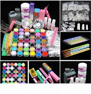 Hot Sale Acrylic Power Manicure Nail Kit Acrylic Liquid Tips Cutter Glitter Rhinestones File Brush Manicure Nail Art Tool Set Gel Kit