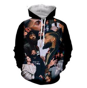 Neue Art und Weise Sommer Designer Hoodies der Männer Frauen 3D-Rap mit Kapuze Nipsey hussle Gelegenheits Harajuku Pullover R0539