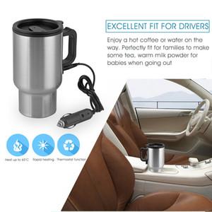 Car Cup Bouteille 12V 450ml thé café Chauffe-eau Chauffage électrique Coupe d'outils bouilloire thermique léger chauffage moteur cigare voiture Y200107