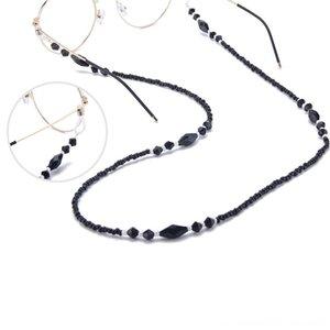 Kadınlar Gözlük Zincirleri Siyah Diğer Moda Aksesuar Akrilik Boncuk Zincirler Antisilip Gözlük Kordon Tutucu Boyun askısı Okuma Gözlüğü Halat