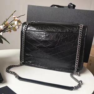 Frauen gefaltetes Leder, eine Schulter Messenger Handtasche, Lingge Kettenbeutel der Frauen, Niki Beutel, Taschen klassische Schmuck Ketten