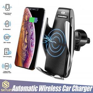 S5 무선 충전기 자동 클램핑 차량용 충전기 홀더 마운트 스마트 센서 10W 빠른 아이폰 삼성 유니버설 전화를위한 충전기를 충전