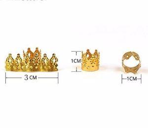 Корона Золотой Стиль Плетение Diy Аксессуар Dread Замок Бусины Волос Кос Булавки Кольца Манжеты Клипы Тибетский Декор Ювелирных Изделий