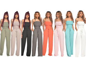 kadınlar geniş bacak jumpsuits tulum straplez tulum Womens tulum tulum moda katı jumpsuits bayan kadın giysileri klw3882 playsuit