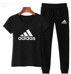 2020 мода женщины спортивные костюмы повседневные топы с коротким рукавом из двух частей Jogger Set дамы Весна спортивный костюм спортивные костюмы 5 цветов плюс размер S-3XL