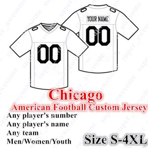 Jersey de football de Chicago sur mesure 4XL 52 Mack 10 Trubisky 32 Montgomery 12 Robinson II 17 Miller 97 Williams 58 Smith 23 Fuller 34 Payton Ditka