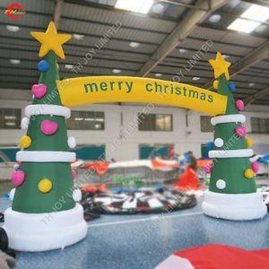 arco inflable personalizado del árbol de navidad para la venta publicidad publicitaria arco inflable de la navidad arco inflable barato para Navidad