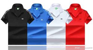 uomini autunno nuovissimo Primavera Estate casuale della camicia di polo degli uomini magliette polo serpente ape ricamo mens alta moda Polo T-shirt m-3XL