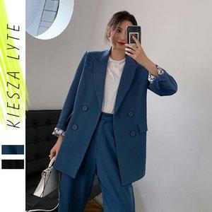 Runway 2020 do Blazer Mulheres Suit Moda Escritório Ladies Suits Pant Uniforme 2 Parte Define Costume Femme High Street