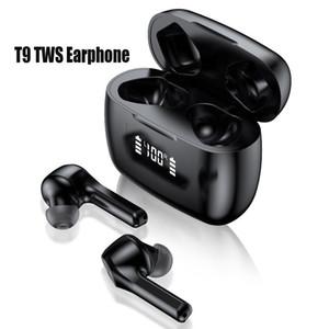 Новый T9 TWS Wireless Bluetooth 5.0 наушники зарядного чехол LED дисплей водонепроницаемых наушников Авто Сопряжение Расстояние передача F9