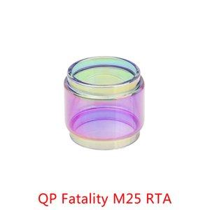 Оптовая QP Fatality M25 RTA 5.5 мл Расширение Пузырьковый Радужный Стекло DHL Бесплатно купить QP Fatality M25 RTA 5.5 мл Fatboy Стеклянная Трубка