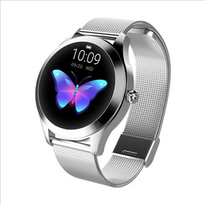 IP68 Waterproof Smart Watch Women Lovely Bracelet Heart Rate Monitor Sleep Monitoring Smartwatch For IOS Android KW10 band