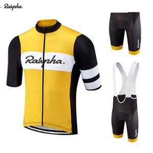 2020 Raphaing Мужчины Велоспорт Джерси наборы Единые Триатлон Одежда Bib Shorts Quick Dry велосипед Одежда Костюмы Ropa Ciclismo