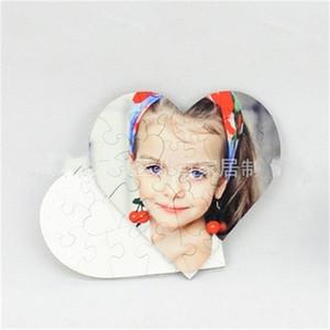 الجملة على شكل قلب اللغز خشبي فارغ التسامي MDF المنتج بانوراما الألغاز لعب الأطفال هدية عيد ميلاد الشعبية 10 5bdH1