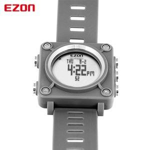 2021 Ezon L012 고품질 패션 캐주얼 스포츠 디지털 시계 야외 스포츠 방수 Compass 스톱워치 손목 시계 어린이를위한