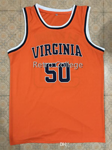 UNIVERSITY OF VIRGINIA COLLEGE RALPH SAMPSON Basketball Jersey College Throwback Stitched Jerseys Customized Any Name And Number