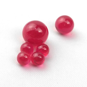 New 4mm 6mm 8mm Ruby Pearl Terp Ball Tops Insert Color Changed Real Pearls for Quartz Banger Nail Glass Water Bongs Smoking Pipes