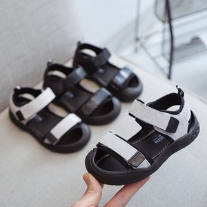 2019 Magic and children's Baotou boys' sandals girls' sandals genuine leather magic sticker