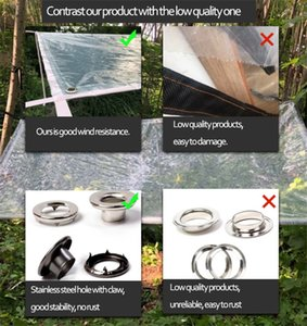 Transparent waterproof Tarp 0.14mm film Rain Protection Heat preservation Sun shelter Shade Sail Many size