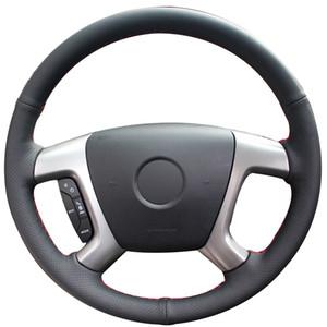 Black Synthetic Car Steering Wheel Cover for Chevrolet Captiva 2007-2014 Silverado GMC Sierra 2007-2013 Daewoo Winstorm