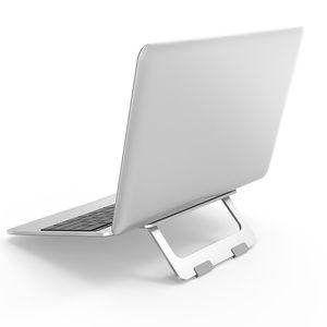 محمول قابلة للطي حامل ماك بوك برو الألومنيوم قابل للتعديل لوحي سطح مكتب حامل الجدول الهاتف المحمول حامل لباد الهواء