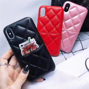 Marca de moda Cartão de bolso Mulheres Designer Telefone caso luxuoso capa para o iPhone 11 pro Max XSMAX XR X XS 6 7 8 Plus Couro