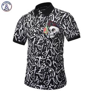 Polos Hommes Paisley Fleurs Shirt Print Skulls Hauts Hommes Polos Été Mode Designer Polos Hommes tendance