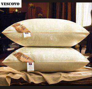 2017 Mulberry Silk Подушка 48 * 74см Пять-Star Hotel Silk подушка Цветочного давление память Шея Здоровье