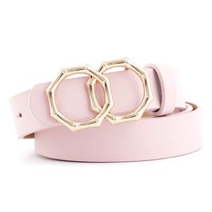 2020 ceinture à boucle ronde nouvelle transfrontalière, ceinture Mme décorée jeans tenue décontractée de la femme avec une tache 545641