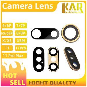 100 шт. / лот высокое качество задняя задняя камера стеклянный объектив для iPhone 8 7 6s 6 plus X объектив камеры Кристалл ремонт с клеем наклейка бесплатная доставка