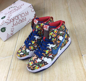 2018 hot Christmas The SB Zoom Dunk High Premium zapatillas de running para hombre mujer 18321-381 Athletic Sport Sneakers Eur 36-45