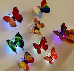 Gece Işığı Lambası Emiş Pad Renkli değiştirme Kelebek LED Gece Işığı Lambası Ev Odası Parti Danışma Duvar Dekoru LLFA
