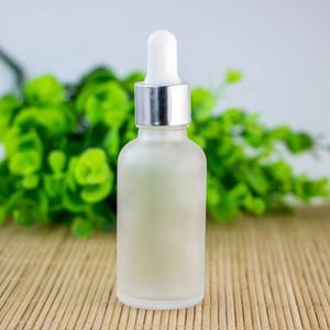Esansiyel Yağı E Likit 30 ml için Göz Dropper ile Altın Gümüş Siyah Kapaklı Buzlu temizleyin boş şişeleri 30ml Cam Şişe Damlalık