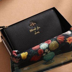 Gerçek Deri Çanta Cüzdan Para Çanta Moda Basit Tide Deri Debriyaj Çanta Bayanlar Yumuşak Baş Katman Deri Düz Renk Nakış