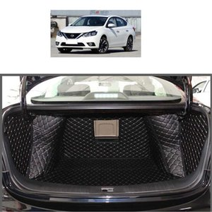 for Leather Car Trunk Mat Cargo Liner for Sylphy 2012 2013 2014 2015 2016 2017 2018 Pulsar Sentra Accessories