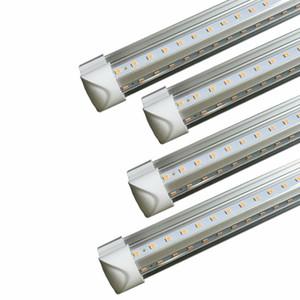 V-Shaped 4 5 6 8ft Led Tube Light T8 Integrated Led Tubes Double Sides SMD2835 Led Fluorescent Lights AC85-265V New free shipping