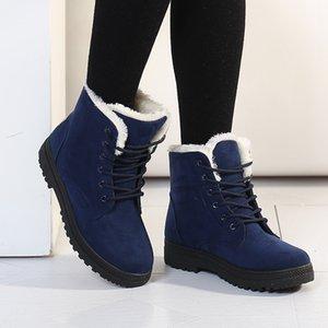 2020 Новые ботинки снега женщина плоский с корейской версией Мартин сапоги зимние плюс хлопка сапоги женские хлопок обувь большого размера кросс-борды SFDC