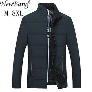 NewBang Brand 5XL 6XL 7XL 8XL Plus Hombres Winter Down Coat Duck Down Warm Park de plumas de los hombres para hombres Outwear de gran tamaño