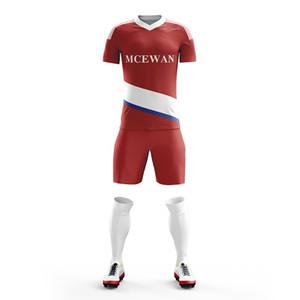 Пользовательские быстросохнущие дышащие Мужчины Короткий комплект diy комплекты футбол форменная рубашка костюм профессиональный дизайн сублимации футбольные майки