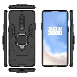 Hybrid Rugged Armor Case for Oneplus 8 Case Kickstand with Metal Finger Ring Shockproof Cover with Car Phone Finger Holder