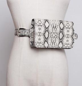 Patrón de piel de serpiente de la serpiente del guepardo de la moda del bolso de la cintura de la PU de alta calidad de cuero clásico del paquete de la cintura extraíble correa del bolso