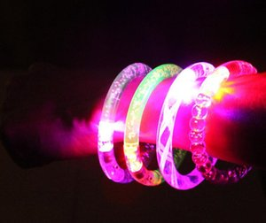 Led Glitter Armband Bandgle LED Kristall Farbverlauf Hand Ring Acryl Glow Flash Light Sticks Party Dance Xmas Supplies TOys