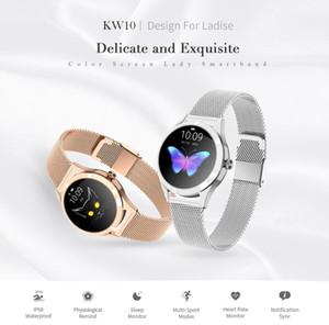 KINGWEAR KW10 Smart Watch Sportuhr Frauen IP68 wasserdichte Fitness Tracker Herzfrequenz-Messung BT für Fitness Bracele Physiologische erinnern