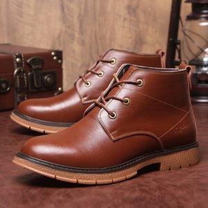 Automne 2019 nouvelles Early Winter Bottes Hommes Chaussures en cuir véritable vache souple confortable en cuir pour homme Bottines Homme Chaussures A1851