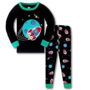 Suits crianças Meninos Pijama 11 estilos impressos dos desenhos animados Camisola da criança luminosos com ar-condicionado roupa Adolescentes Dinosaur Pijamas 3-8T 060622