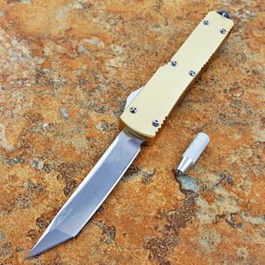 ut121 121 or transparent double action auto-défense tactique couteau edc pliage des couteaux de chasse couteau de camping noël outil de poche cadeau