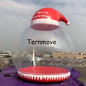 3M Christmas Inflatable Snow Globe for Decoration, Inflatable Human Snow globe with hat For Photography