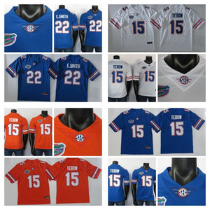 2019 New College Football Jersey E.Smith Jersey 15 Tim Tebow NCAA Florida Gators Jerseys Blue Orange 150º